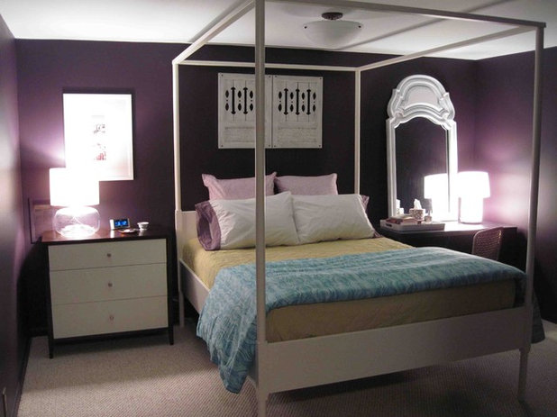 Eclectic Bedroom by Raina Cox. Color Guide  How to Work With Plum