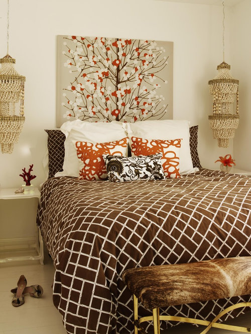 Brown and orange home design ideas pictures remodel and for Brown and orange bedroom ideas