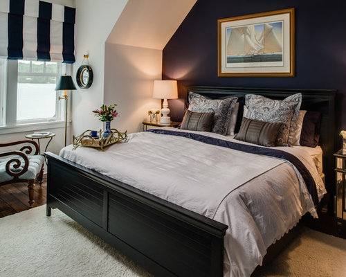 navy blue bedroom houzz. Black Bedroom Furniture Sets. Home Design Ideas