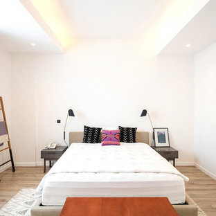 Bedroom   Modern Guest Light Wood Floor And Beige Floor Bedroom Idea In Los  Angeles With