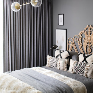 Design ideas for a scandinavian bedroom in London.