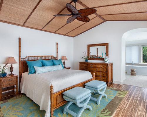 chambre exotique avec un sol en bambou photos et id es d co de chambres. Black Bedroom Furniture Sets. Home Design Ideas