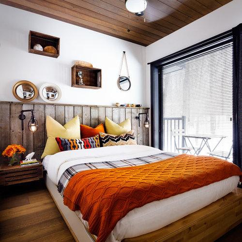 Маленькие спальни в стиле рустика фото - 400, дизайн интерьера спальной комнаты в квартире, идеи ремонта и оформления спальни