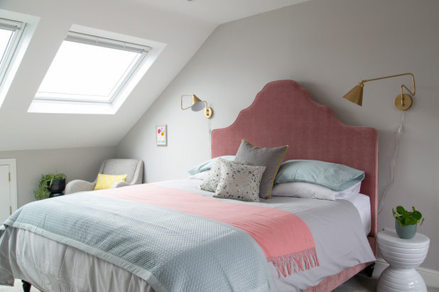 Transitional Bedroom by Clare Elise Interiors