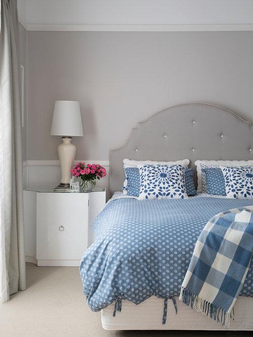 Grey Mauve Bedroom | Houzz