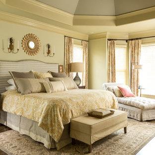 Ordinaire Bedroom   Large Traditional Master Medium Tone Wood Floor Bedroom Idea In  Atlanta With Green Walls