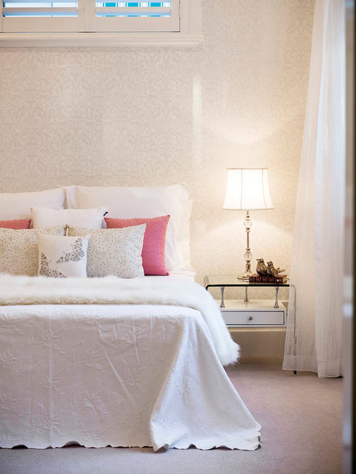 faux fur bedroom wallpaper houzz