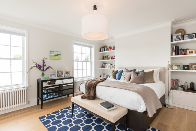 Transitional Bedroom by Design Box London