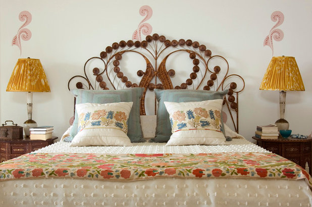 Eclectic Bedroom by Sara Bengur Interiors