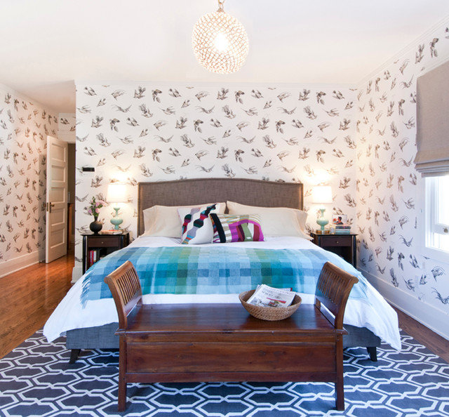 Eclectic Bedroom by Taylor Jacobson Interior Design