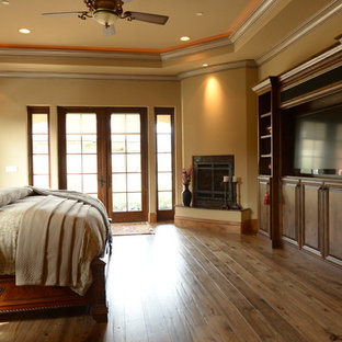 Hand Distressed Hickory Floors - Master Bedroom