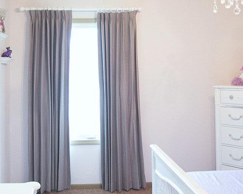 Soft Neutral Nursery Blackout Curtains
