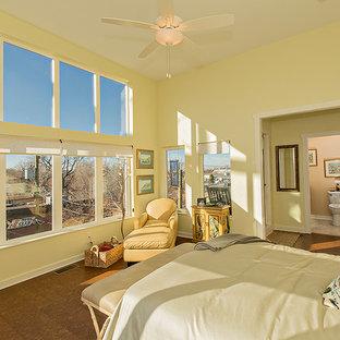 Modelo de dormitorio principal, clásico, con suelo de corcho