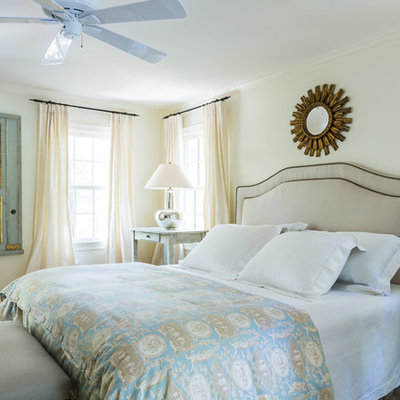Inspiration for a mid-sized timeless master carpeted and beige floor bedroom remodel in New Orleans with white walls and no fireplace