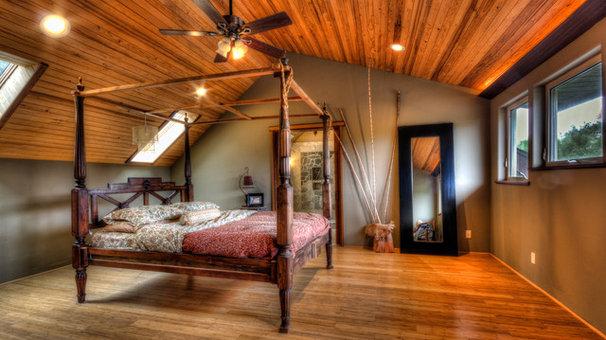 Tropical Bedroom by bobby vilas design