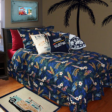 Beach Style Bedroom by Dean Miller Surf Bedding