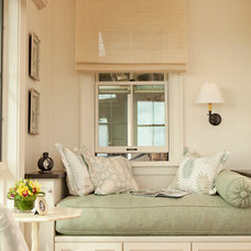 Tropical Bedroom by Chelsea Court Designs