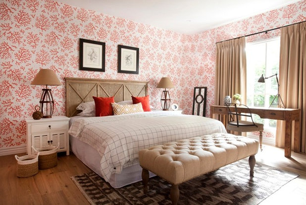 Country Bedroom by Alexander Pollock Interiors