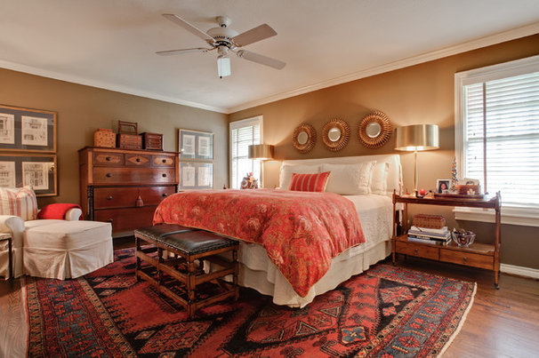 Transitional Bedroom by Jodell Clarke Designs