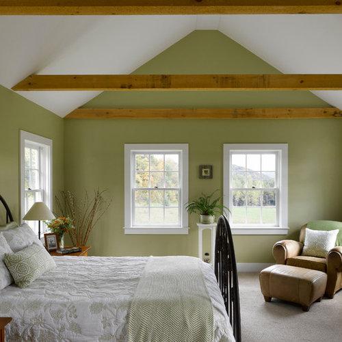 camera da letto in campagna con pareti verdi - foto e idee per ... - Pareti Verdi Camera Da Letto