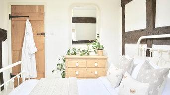 Herefordshire Black & White Cottage Bedroom