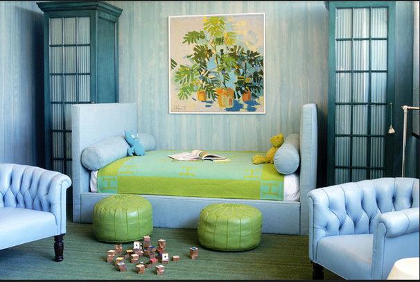Eclectic Bedroom hermes blanket
