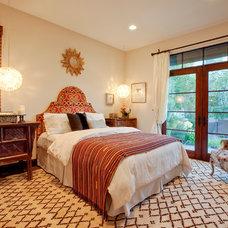 Mediterranean Bedroom by Luke Gibson Photography
