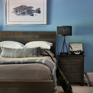Transitional bedroom photo in Charlotte