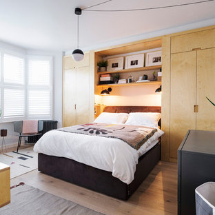 Design ideas for a scandi bedroom in Other.