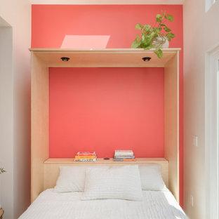 Cette photo montre une chambre scandinave.