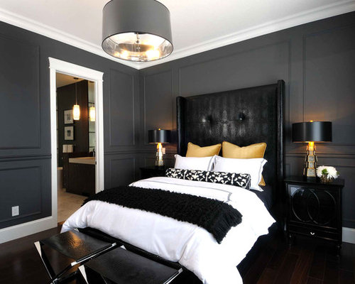 headboard wall molding detail ideas, pictures, remodel and decor,