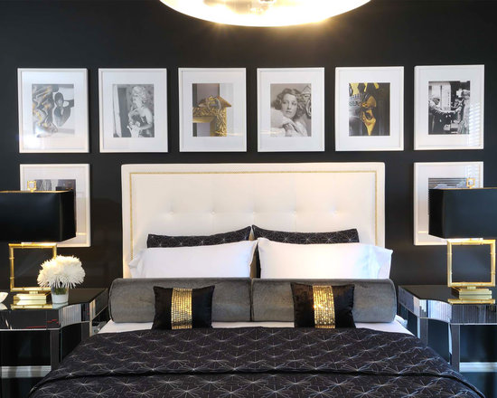 white and gold bedroom houzz