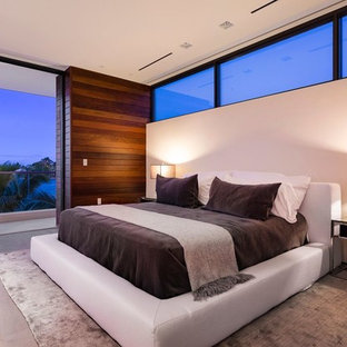 Inspiration For A Beach Style Master Light Wood Floor Bedroom Remodel In  Miami With White Walls