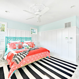 Turquoise And Coral Bedroom | Houzz