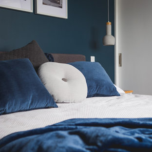 75 Beautiful Modern Blue Bedroom Pictures & Ideas   Houzz