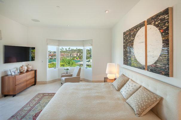 Mediterranean Bedroom by Hill Construction Company