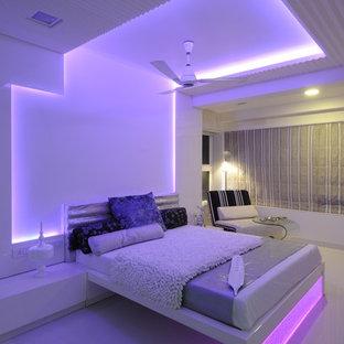 Eclectic bedroom in Mumbai.