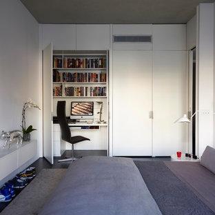 Chambre moderne avec un sol en bois foncé : Photos et idées déco de ...