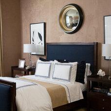 Transitional Bedroom by Robert Brown Interior Design