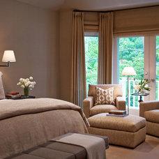 Transitional Bedroom by Stephanie Wohlner Design
