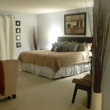 Transitional Bedroom by Tiffany Brooks, HGTV Host/ You and Your Decor