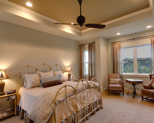 fancy bedroom designer furniture. example of a midsized arts and crafts guest carpeted bedroom design in austin with fancy designer furniture