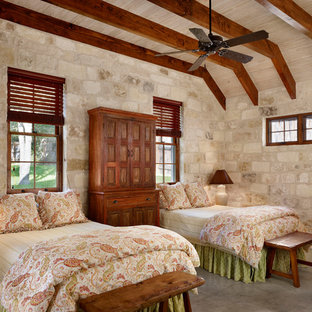 Bedroom - country guest bedroom idea in Houston