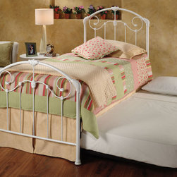 Hillsdale Furniture - Hillsdale Maddie Panel Bed w/ Trundle - A lightly scaled  victorian styled bed that marries interesting scroll work with vivid castings. Perfect for the little girls first bed.
