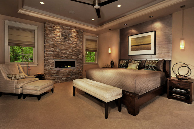 Contemporary Bedroom by Norman Kohl for Nathan Mayo & Associates