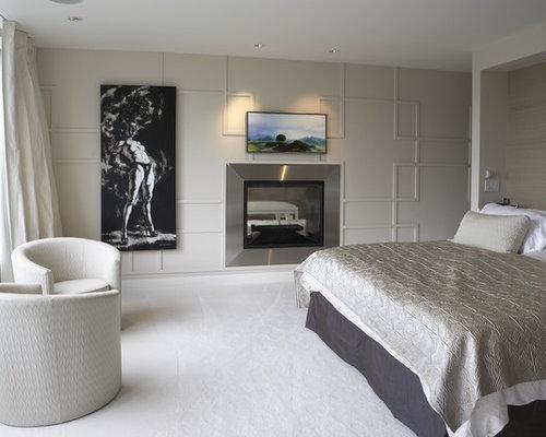 Minimalist bedroom photo in Vancouver