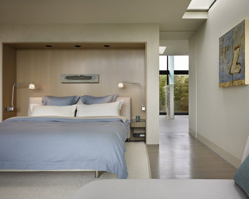 Modern Gray Bedroom Design Ideas Remodels Photos Houzz