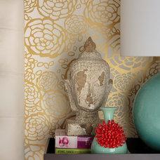 Transitional Bedroom by Lynne Parker Designs