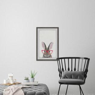 """Hippie Bunny"" Framed Painting Print"