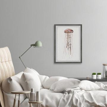 """Hippy Jellyfish"" Framed Painting Print"